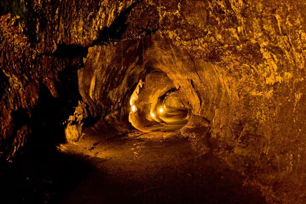 Lava tubes Volcanoes National Park Hawaii
