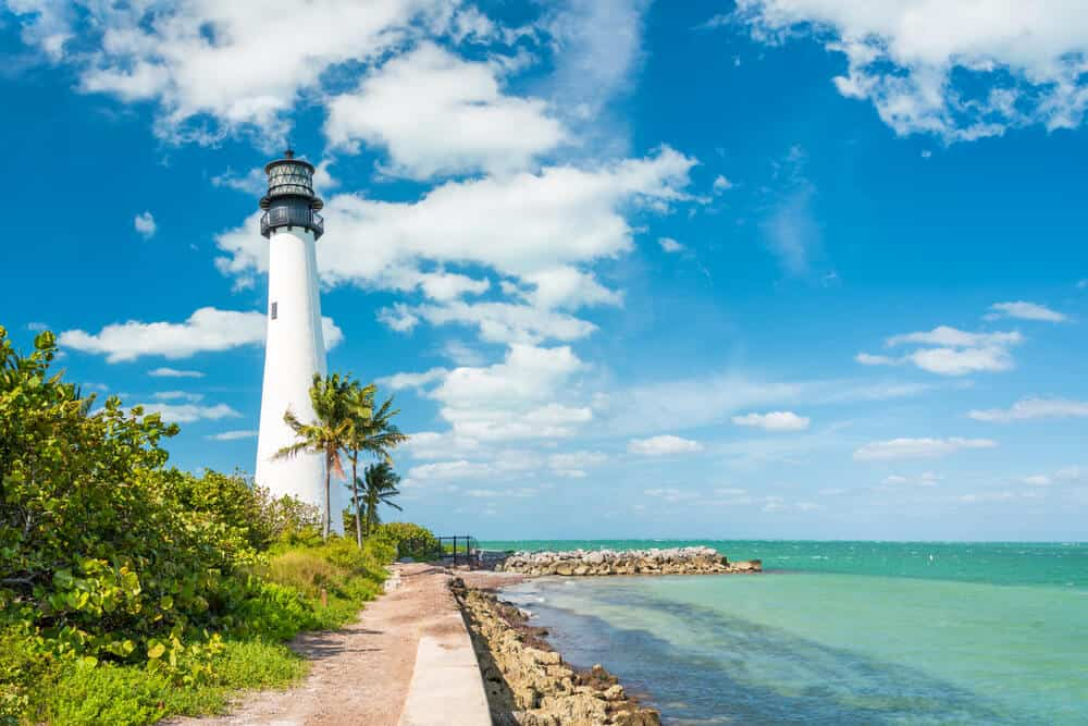 Lighthouse at Key Biscayne near Miami