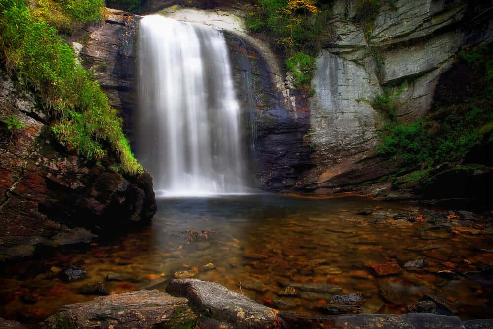Looking Glass Falls in Pisgah National Forest, North Carolina