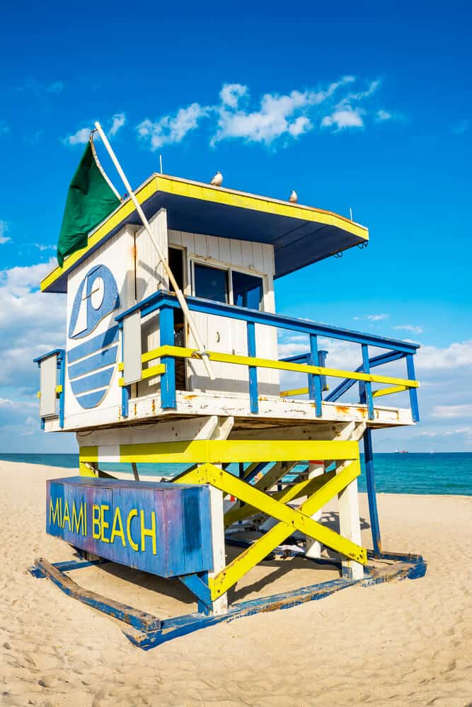 Miami South Beach Life Guard Hut
