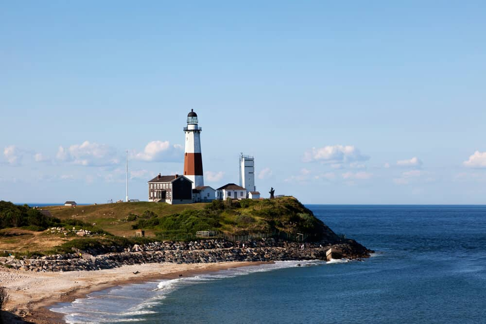 Montauk Lighthouse at Long Island Beach in New York