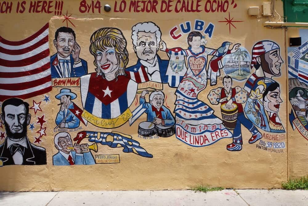 Mural in Little Havana Miami
