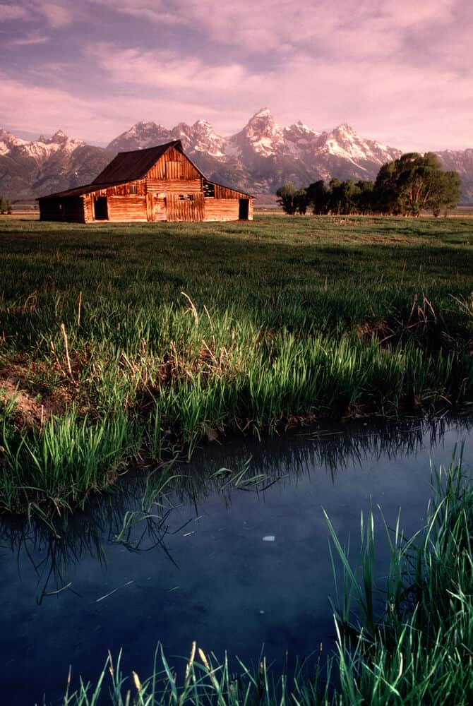 Old Barn at Antelope Flats in Grand Tetons National Park in Wyoming