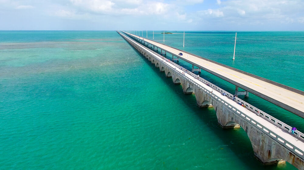 Overseas Highway in the Florida Keys from Miami to Key West