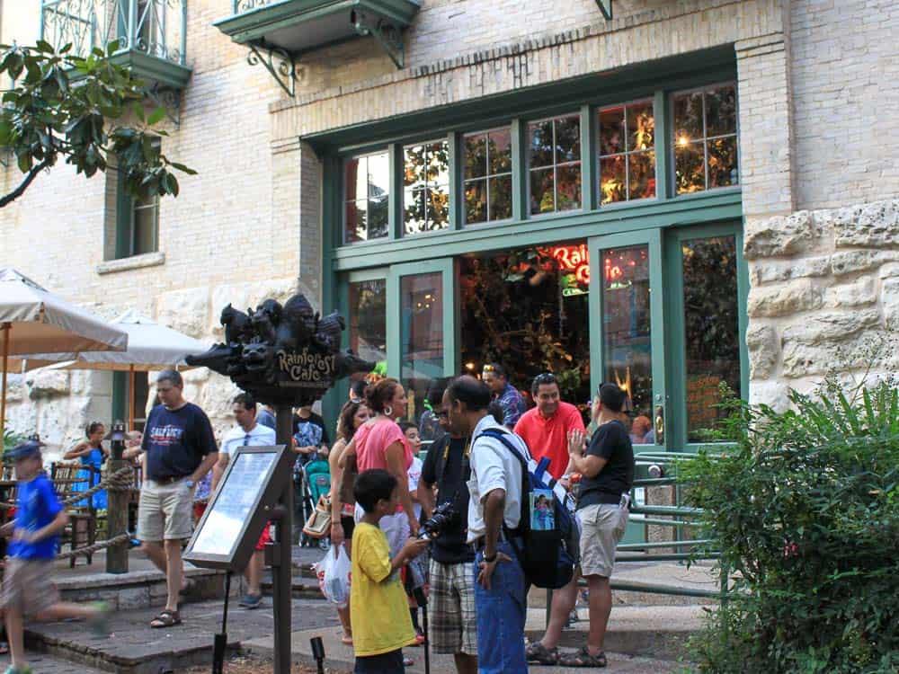 Rainforest Cafe, San Antonio Riverwalk