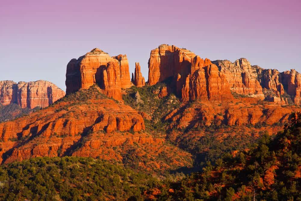 Sunset near Cathedral Rock in Sedona, Arizona