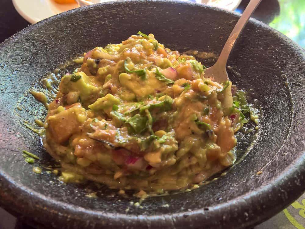 Tableside Guacomole freshy prepared at Boudro's