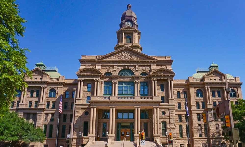 Tarrant County Courthouse in Fort Worth, Texas