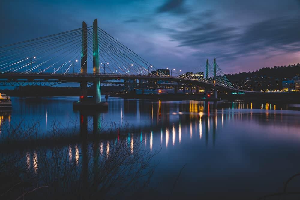 Tillicum Crossing Bridge in Portland Oregon