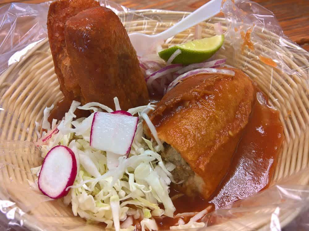 Torta Ahogada at Roho Pork's in San Antonio