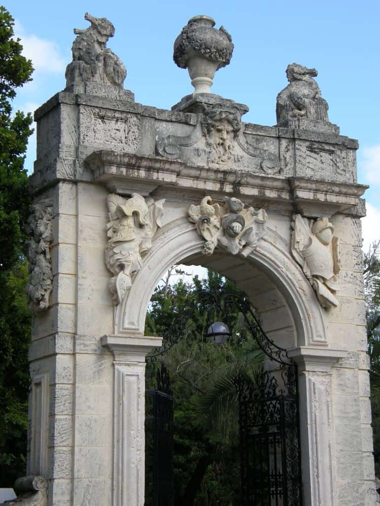 Vizcaya Gardens and Museum Miami architectural archway