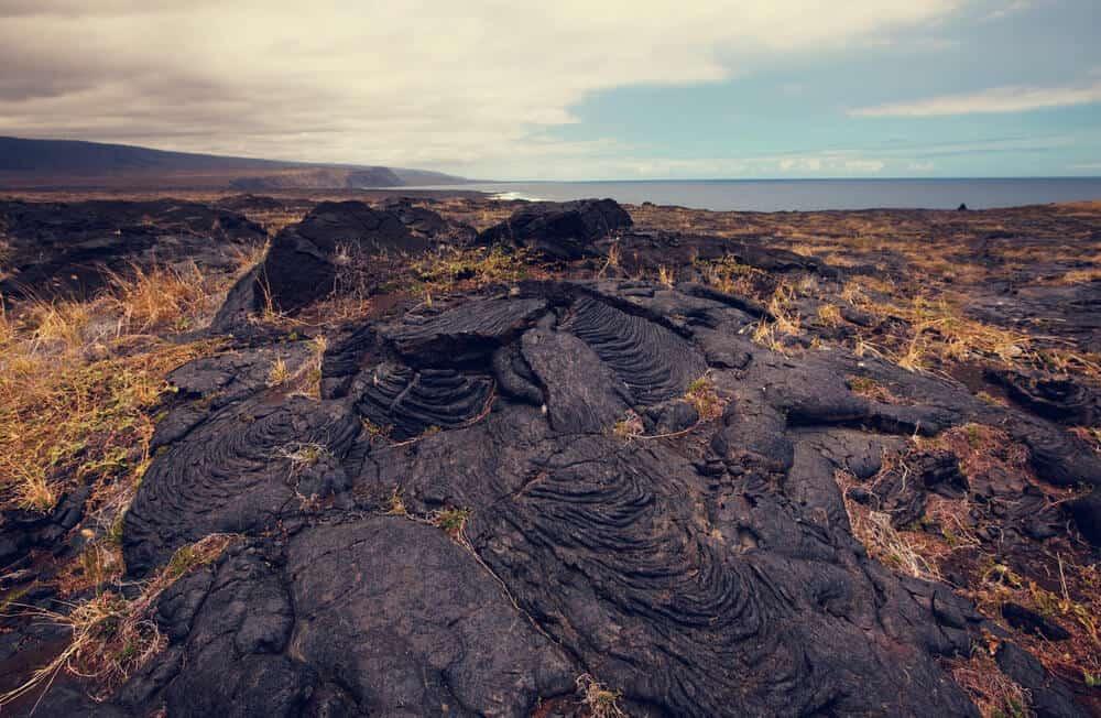 Volcanoes National Park lava flows Hawaii
