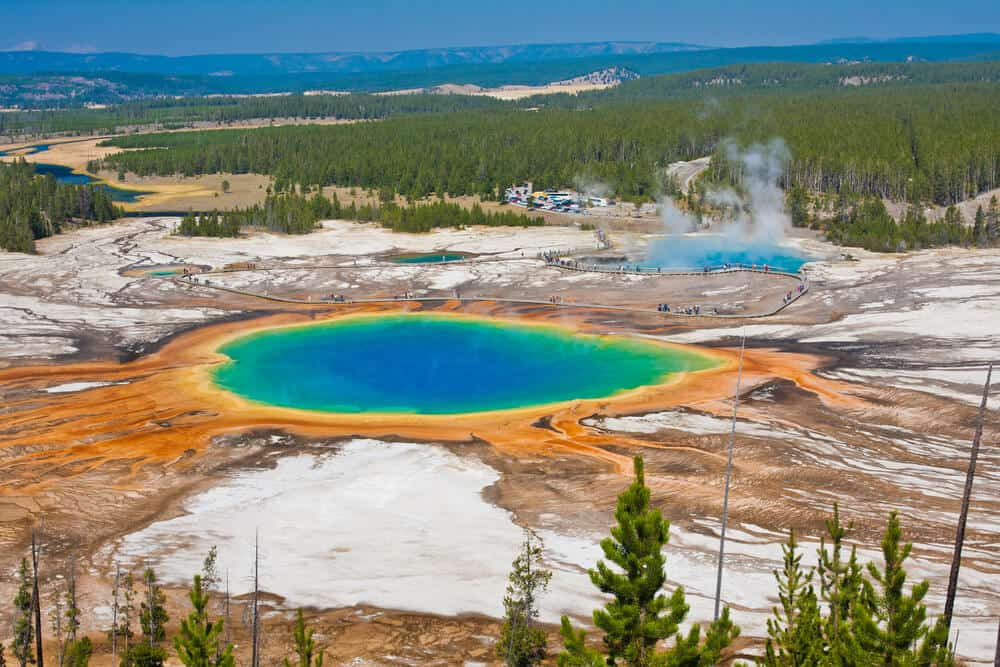 Yellowstone National Park prismatic spring in Wyoming