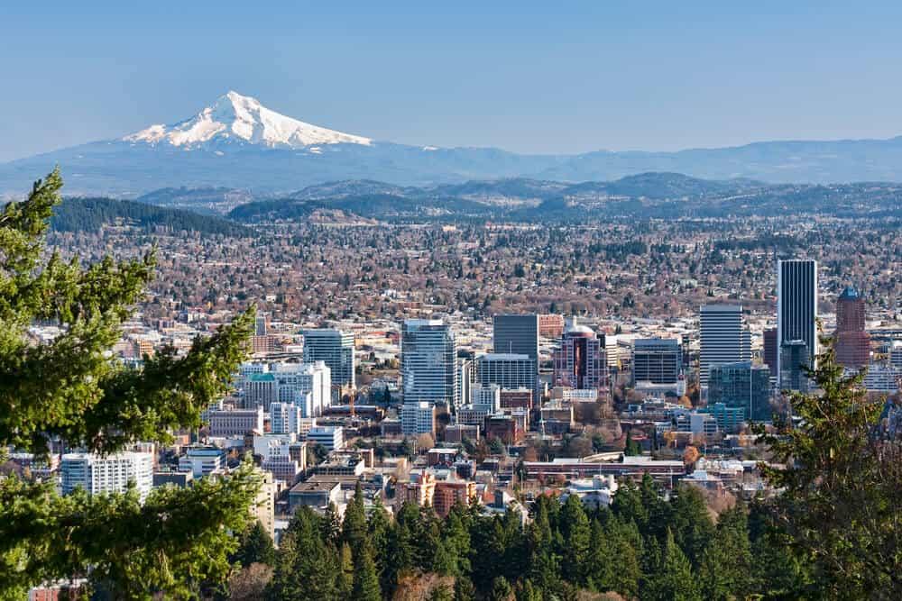 Beautiful View of Portland, Oregon