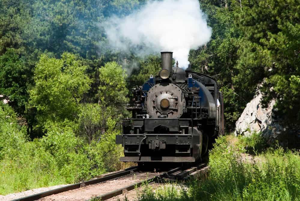 Black Hills Railroad Steam engine, South Dakota