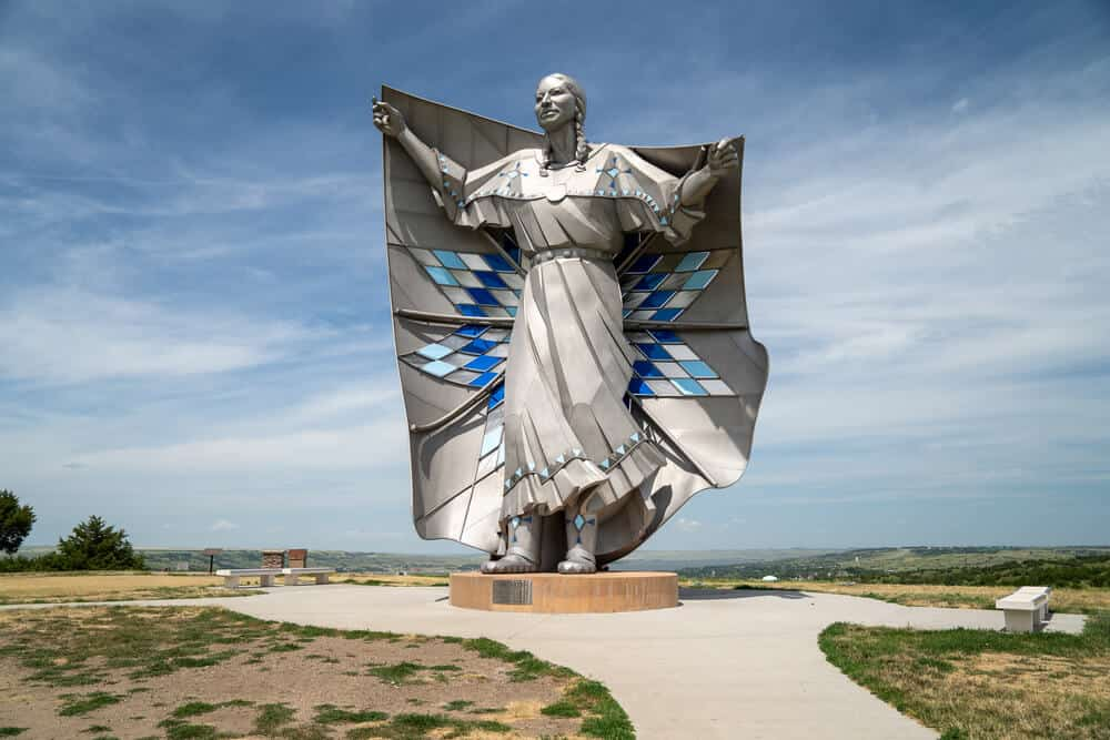 Dignity Statue in Chamberlain, South Dakota