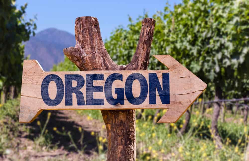Oregon wooden sign