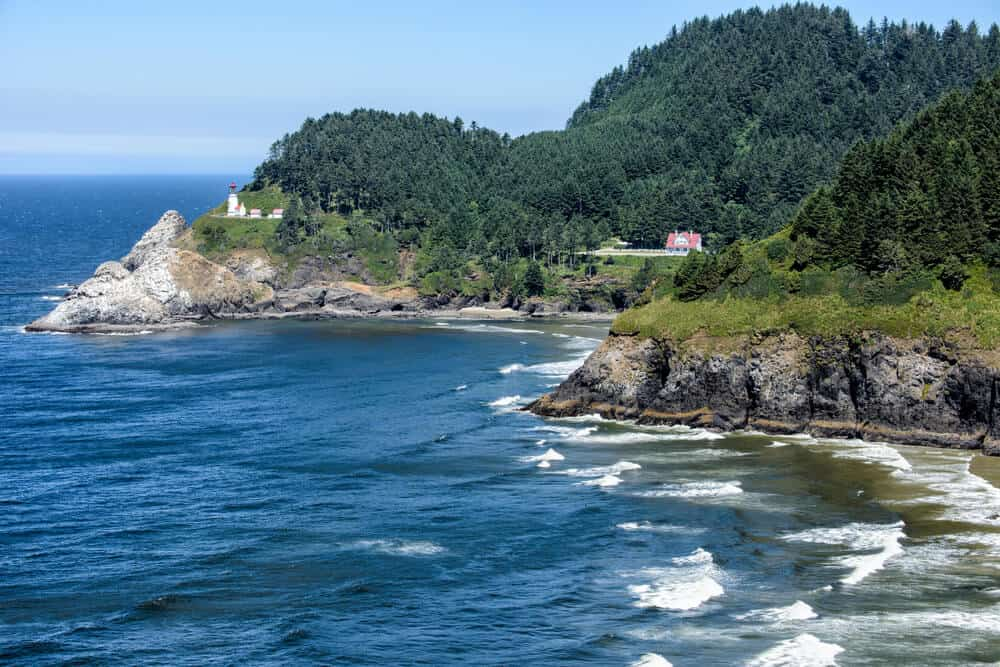 Rugged Oregon Coast with Lighthouse