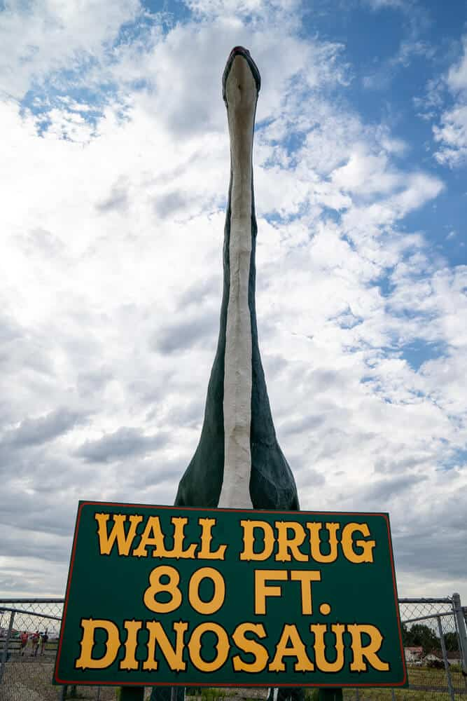 Wall Drug dinosaur near Badlands, South Dakota