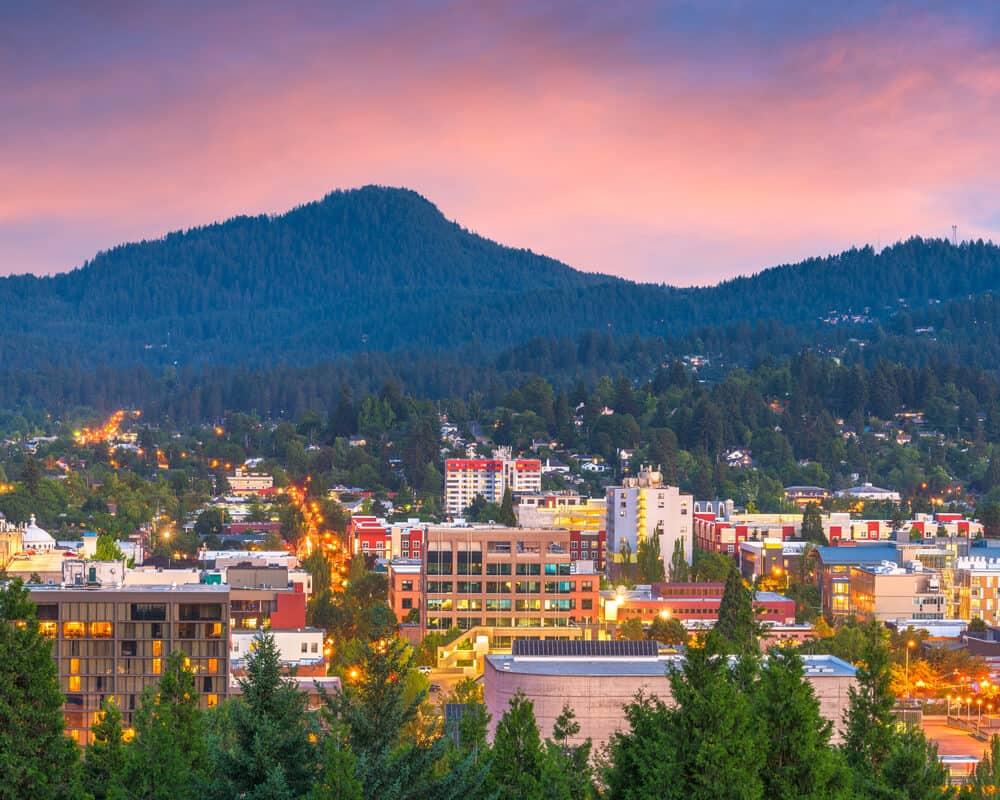 Eugene, Oregon skyline