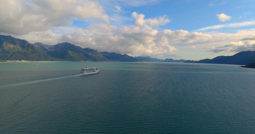 Fall cruise ship in Seward, Alaska