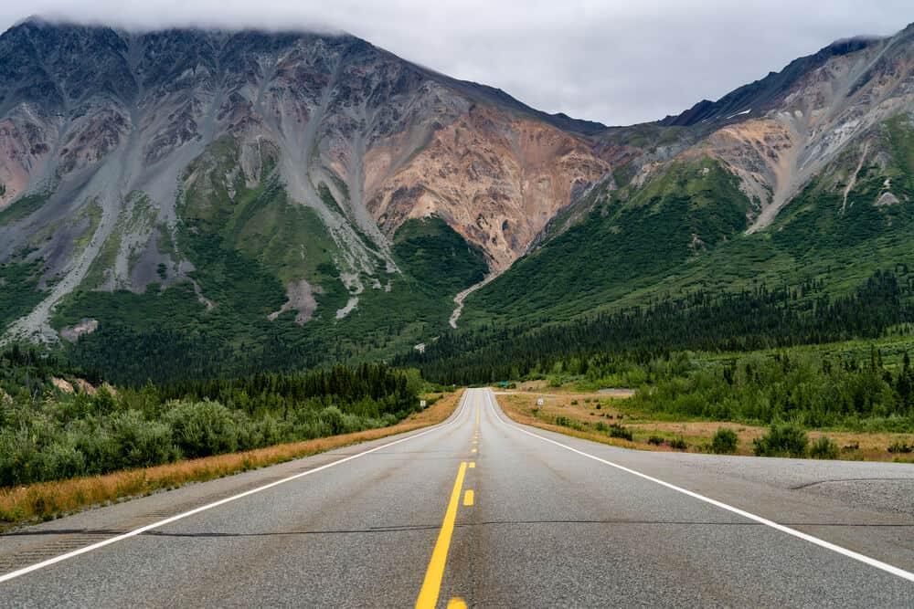 Highway to Delta Junction, Alaska