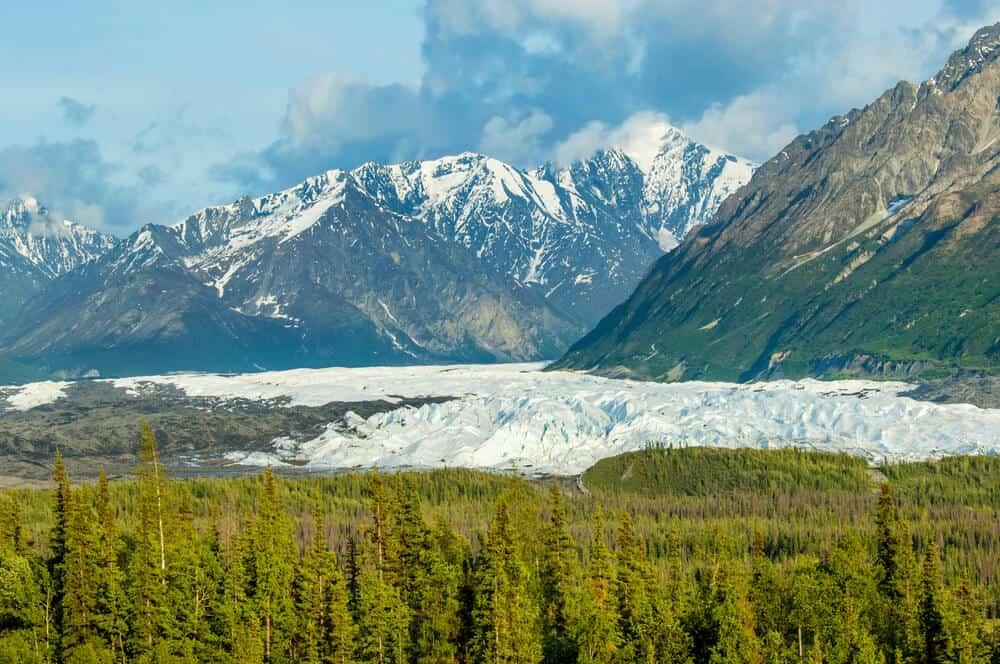 Matanuska glacier and mountains, Alaska