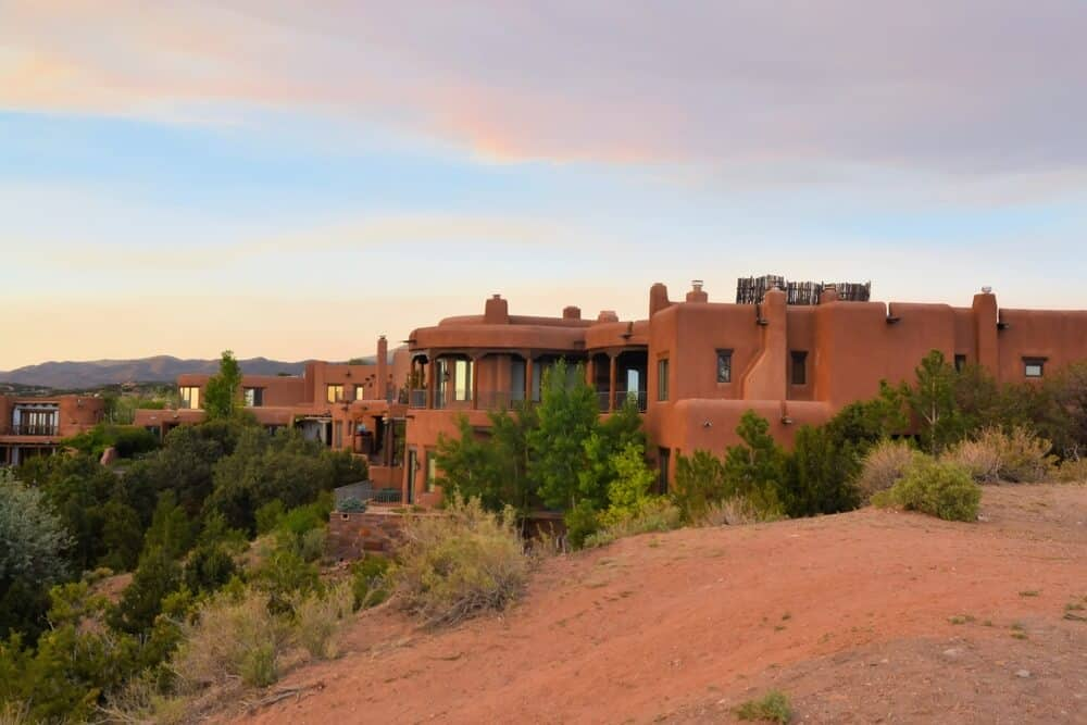 Pueblo Style House In Sta. Fe, New Mexico