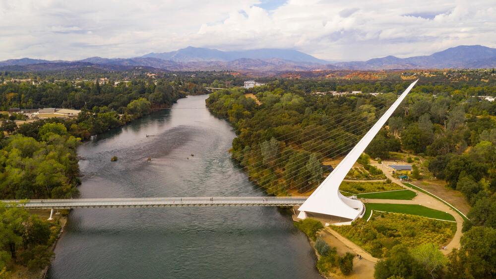 Sun dial Bridge in Redding, California