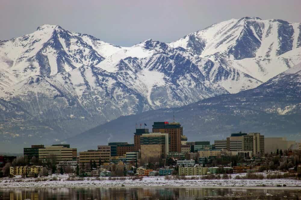 Skyline of Anchorage, Alaska