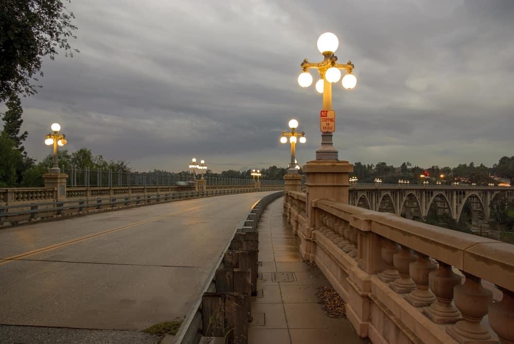 The Colorado Street Bridge in Pasadena, California