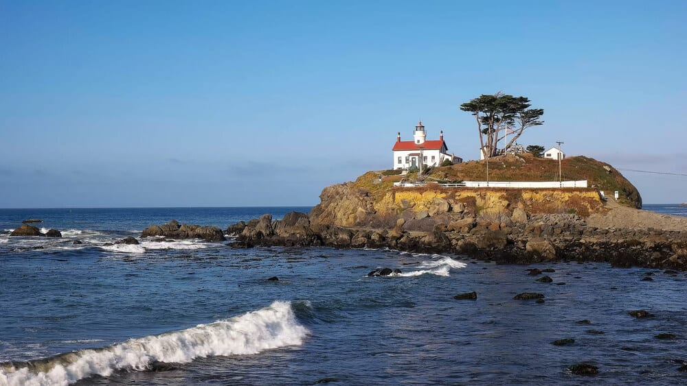 The lighthouse at Crescent City along the north california coast