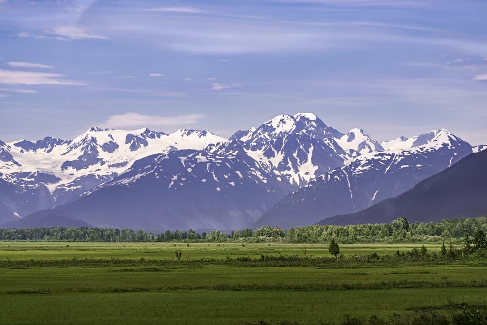 Pastoral panorama of Chugach Mountains