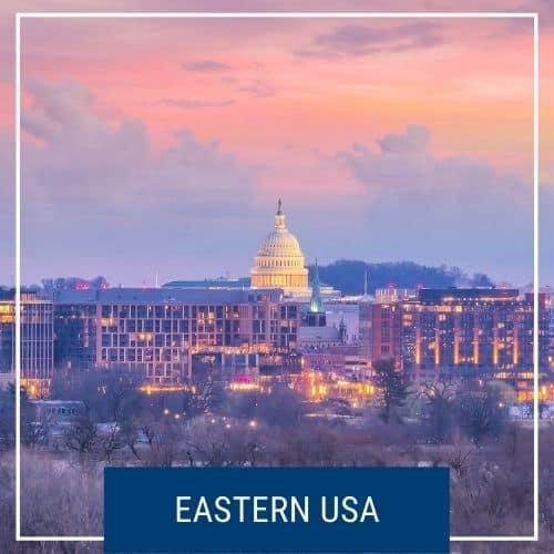 Dotted Globe USA Travel Blog Region Eastern USA