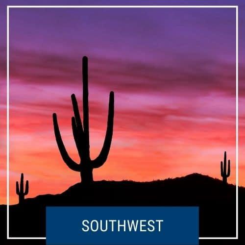 Dotted Globe USA Travel Blog Region Southwest