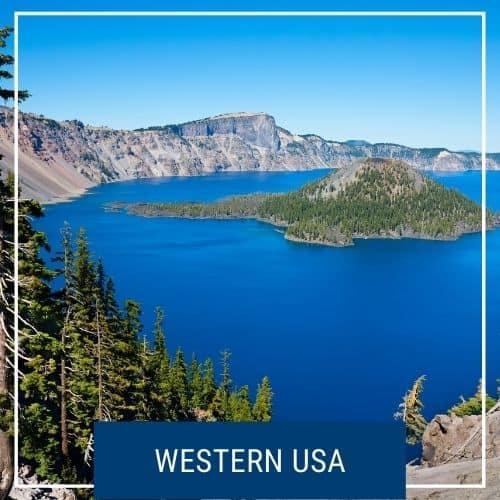 Dotted Globe USA Travel Blog Region Western USA